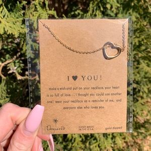 "Gold & Silver Tone ""I Love You!"" Necklace"